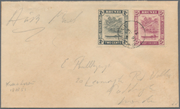 Brunei: 1951, Printed Matter By Air Mail With 2c And 25c Brunei River Tied By KUALA BELAIT Datestamp - Brunei (1984-...)
