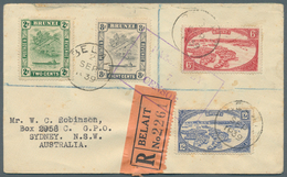 Brunei - Stempel: BELAIT (type D5): 1939 (2.9.), Registered Cover From Belait With Four Diff. Stamps - Brunei (1984-...)