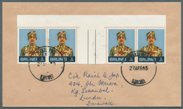 Brunei - Stempel: WAKIL POS 1 And 2 (Postal Agency 1 And 2): 1981/85, Four Covers (two Of Each Postm - Brunei (1984-...)