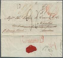 Ceylon / Sri Lanka: 1835. Pre-stamp Envelope Written From Colombo Dated '12th Nov 1835' Addressed To - Sri Lanka (Ceylon) (1948-...)