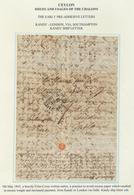 Ceylon / Sri Lanka: 1845, MY 9, A Heavily Criss-cross Written Entire, A Practice To Avoid Excess Pap - Sri Lanka (Ceylon) (1948-...)