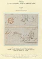 "Ceylon / Sri Lanka: 1849, MAY 9th, Entire Letter To ABERDEEN, Scottland Showing ""KANDY STEAMER LETTE - Sri Lanka (Ceylon) (1948-...)"