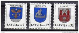 LATVIA 2006  Definitive: Arms Set Of 3 MNH / **.  Michel 660-62 - Latvia