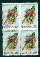 Ghana 1981 20p Parrot Block 4 FU Lot27686 - Ghana (1957-...)
