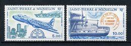 SPM MIQUELON  PA N° 64/65 ** Neufs MNH Superbes C 9,10  Avions  Latécoère Hawker Siddeley Bateaux Boats Ships Transports - Neufs