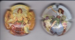 LOTE DE 2 PLACAS DE CAVA MON PAIS DE MUJERES (CAPSULE) MUJER-WOMAN - Sparkling Wine