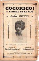 PARTITION MUSIQUE.COCORICO!L'AIGLE ET LE COQ.ZETTY.BERTAL-MAUBON.DANIDERFF  Achat Immédiat - Partitions Musicales Anciennes