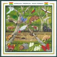Ghana 1990 African Tropical Rain Forest MS MUH - Ghana (1957-...)