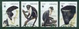 Ghana 1994 WWF Diana Monkey FU - Ghana (1957-...)