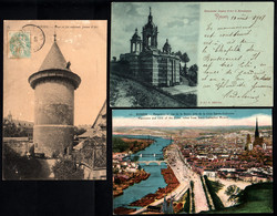 76 ROUEN Tour Jeanne D' Arc, Monument Jeanne D' Arc à Bonsecours, Panorama Sur La Seine (3 Cartes) - Rouen