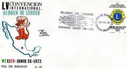 Mexico 1972, Lions Club, FDC - Messico