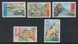 Congo 1993 Prehistoric Animals Dinosaurs CTO - Congo - Brazzaville