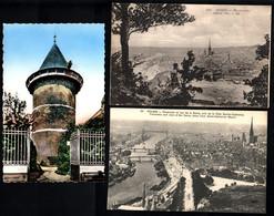 76 ROUEN Tour Jeanne D' Arc, Vue Générale, Panorama Sur La Seine (3 Cartes) - Rouen