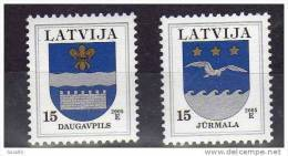 LATVIA 2005 Arms Definitives 15c. With Year Date 2005  MNH / **.  Michel 521-22 Iv - Latvia