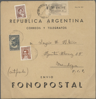 """Thematik: Musik / Music: 1938 Appr., Registerred Envelope Inscripted """"FONOPOSTAL"""" Containing A Disc - Music"""