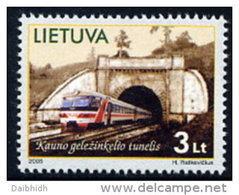 LITHUANIA 2005 Railway Tunnel MNH / **.  Michel 875 - Lithuania