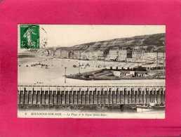 62 Pas De Calais, Boulogne-sur-Mer, La Plage Et La Digue Sainte-Beuve, Animée, 1914, () - Boulogne Sur Mer