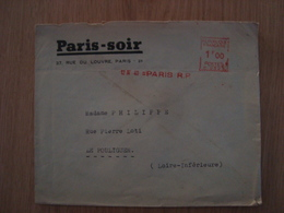 ENVELOPPE PARIS-SOIR - 1921-1960: Periodo Moderno