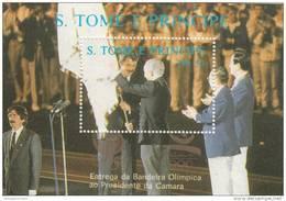 Santo Tome Y Principe Hb 63D Y 63E Oro - Verano 1992: Barcelona