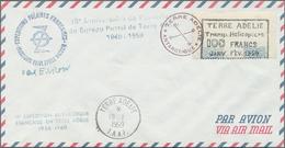 "Französische Gebiete In Der Antarktis: 1959, Flight Vignette ""Terre Adelie Transp. Helicoptere"" 100 - French Southern And Antarctic Territories (TAAF)"