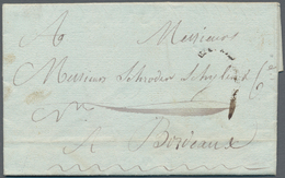 """Haiti: 1784, Folded Letter From LE C AP With Small Bended, Somewhat Weak """"COLONIES"""" Mark To Bordeaux - Haiti"""