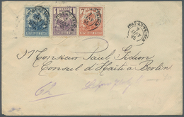 Haiti: 1895, 1 Cent, 2 Cent And 7 Cent Letter With Three Colour Franking From PORT AU PRINCE JAN 7 W - Haiti