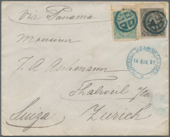 El Salvador: 1881/1882. Lot Of 3 Letters, Each With 1c And 10c Emblem Combination Franking And Cance - El Salvador