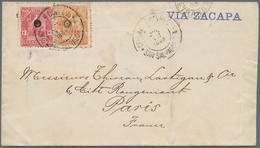 """El Salvador: 1899, 13 C., 5 C. Tied """"SAN SALVADOR JUL 12 1899"""" To Cover Endorsed """"Via Zacapa"""" To Par - El Salvador"""