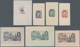 Sudan: 1921/1935: Six Proofs/essays Of 1935 General Gordon Issue Plus The Complete Set Issued (9 Val - Sudan (1954-...)