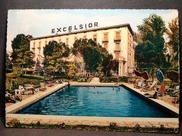 (FG.K19) ABANO TERME - HOTEL TERME EXCELSIOR - PISCINA TERMALE Animata (PADOVA) Albergo - VIAGGIATA 1963 - Padova (Padua)