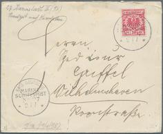 """Deutsche Schiffspost - Marine: 1898/1906, Bf. Mit 10 Pf. Karmin """"MSP No. 27 2/7"""" O. J. Vom Dampfer D - Deutschland"""