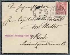 Deutsche Schiffspost Im Ausland - Seepost: 1894/1912, Partie Mit Drei Seltenen Belegen, Dabei Dt.Rei - Deutschland