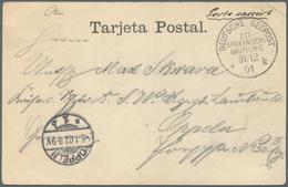"""Deutsche Schiffspost Im Ausland - Seepost: 1901. Cash Franking From The Steamer Koenig. """"DEUTSCHE SE - Deutschland"""