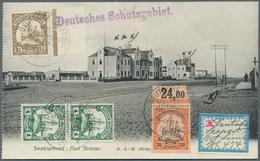 Deutsche Schiffspost Im Ausland - Seepost: 1909 2x 4 H. Senkrecht.Paar, 2 1/2 H.u.30Pf.m.Oberrand Al - Deutschland