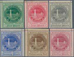 Deutsche Schiffspost - Seepostmarken: 1916, Ozeanreederei, 5 M Bis 50 M Kompletter Satz In Eckrandst - Deutschland