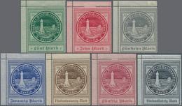 Deutsche Schiffspost - Seepostmarken: 1916, Ozeanreederei, 5 M Bis 75 M, 7 Verschiedene Werte, Einhe - Deutschland