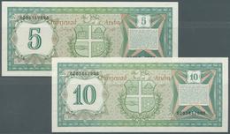 Aruba: Set Of 2 Notes Containing 5 & 10 Florin 1986 P. 1, 2, Both In Crisp Original Condition: UNC. - Aruba (1986-...)