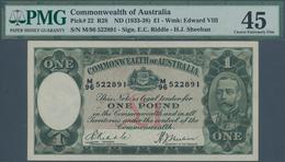 Australia / Australien: 1 Pound ND(1933-38) P. 22, Condition: PMG Graded 45 Choice XF. - Australia