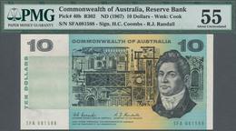 Australia / Australien: 10 Dollars ND(1967) P. 40b, Condition: PMG Graded 55 AUNC. - Australia