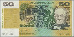 Australia / Australien: 50 Dollars ND(1973-94) P 47c, Crisp Original Paper With Bright Original Colo - Australia