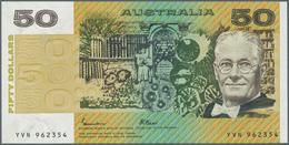 Australia / Australien: 50 Dollars ND(1973-94) P. 47e, Crisp Original With Bright Colors, Only 2 Min - Australia