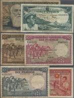 Belgian Congo / Belgisch Kongo: Set Of 13 Different Banknotes Containing 100 Francs 1955 P. 33 (F-), - [ 5] Belgian Congo