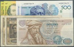 Belgium / Belgien: Set Of 7 Notes Containing 2x 100 Francs 1949 P. 126 (F), 1000 Francs 1973 P. 136 - Belgium