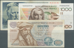 Belgium / Belgien: Set Of Notes 1000 Francs Containing The Issue P. 131 (F+), P. 136 (pressed F To V - Belgium