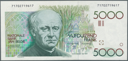 Belgium / Belgien: 5000 Francs ND P. 145, No Visible Folds In Paper But Pressed, Still Strong Paper - Belgium