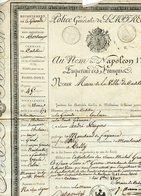CADILLAC GIRONDE. SOUS NAPOLEON 1er. LAISSEZ-PASSER DU MAIRE POUR UN MARCHAND DE FAIENCES 1807 - Old Paper