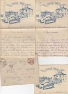 LETTRE EN FM. TAXÉE 1Fr. 3 CORRESPONDANCES A EN-TËTE DE LA CASERNE BRUN A BESANCON POUR BLESLE HAUTE-LOIRE / 4301 - Marcophilie (Lettres)