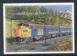 Angola 1997 Trains MS MUH - Angola