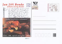 Rep. Ceca / Cart. Postali (Pre2014/37) Jan Jiri Benda / Johann Georg Benda (1714-1752) Violinista E Compositore Boemo - Professioni