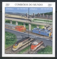 Angola 1997 Trains Sheetlet MUH - Angola